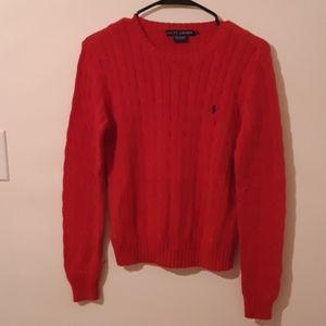 Ralph Lauren 100% cotton womens winter sweater
